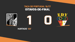 Taça de Portugal (Oitavos de Final): Resumo Vitória SC 1-0 Vilafranquense