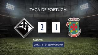 Taça de Portugal (3ª Eliminatória): Resumo A. Académica 2-1 FC P.Ferreira