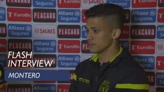 Taça de Portugal (Meias-Finais - 2ª Mão): Flash interview Montero