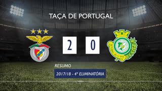 Taça de Portugal (4ª Eliminatória): Resumo SL Benfica 2-0 Vitória FC