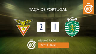 Taça de Portugal (Final): Resumo Flash CD Aves 2-1 Sporting CP