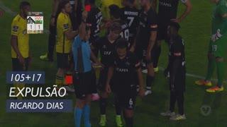 A. Académica, Expulsão, Ricardo Dias aos 105'+17'