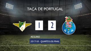 Taça de Portugal (Quartos de Final): Resumo Moreirense FC 1-2 FC Porto