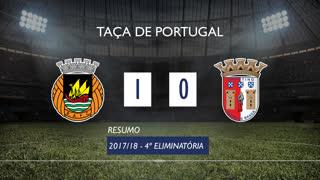 Taça de Portugal (4ª Eliminatória): Resumo Rio Ave FC 1-0 SC Braga