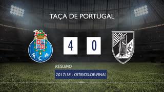 Taça de Portugal (Oitavos de Final): Resumo FC Porto 4-0 Vitória SC