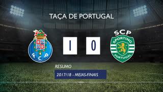 Taça de Portugal (Meias-Finais): Resumo FC Porto 1-0 Sporting CP
