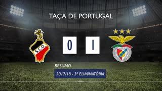 Taça de Portugal (3ª Eliminatória): Resumo SC Olhanense 0-1 SL Benfica