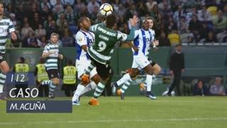 Sporting CP, Caso, M. Acuña aos 112'