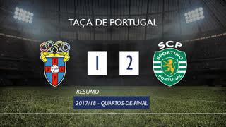Taça de Portugal (Quartos de Final): Resumo CD C. Piedade 1-2 Sporting CP