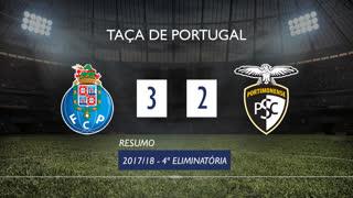 Taça de Portugal (4ª Eliminatória): Resumo FC Porto 3-2 Portimonense