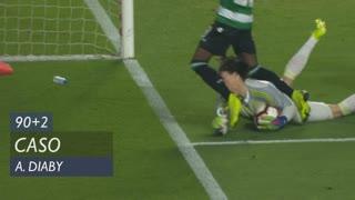 Sporting CP, Caso, A. Diaby aos 90'+2'