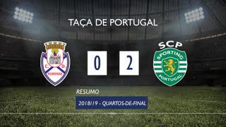 Taça de Portugal (Quartos de Final): Resumo CD Feirense 0-2 Sporting CP