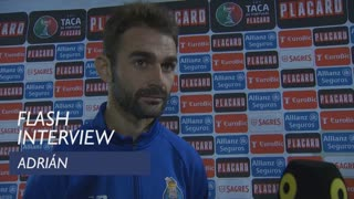 Taça de Portugal (3ª Eliminatória): Flash interview Adrián