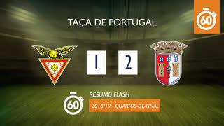 Taça de Portugal (Quartos de Final): Resumo Flash CD Aves 1-2 SC Braga