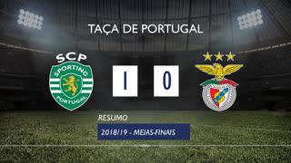 Taça de Portugal (Meias-Finais): Resumo Sporting CP 1-0 SL Benfica