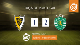 Taça de Portugal (3ª Eliminatória): Resumo Flash Loures 1-2 Sporting CP