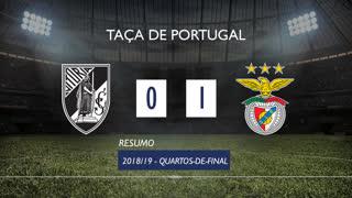 Taça de Portugal (Quartos de Final): Resumo Vitória SC 0-1 SL Benfica