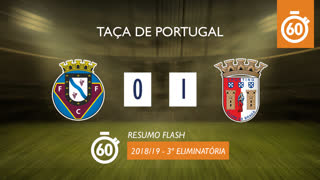 Taça de Portugal (3ª Eliminatória): Resumo Flash Felgueiras 1932 0-1 SC Braga