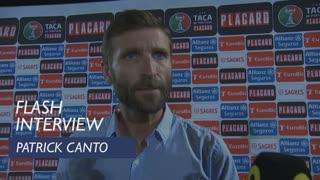 Taça de Portugal (3ª Eliminatória): Flash interview Patrick Canto