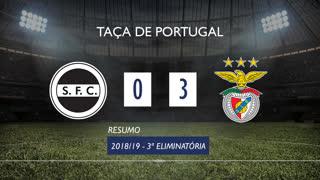 Taça de Portugal (3ª Eliminatória): Resumo Sertanense 0-3 SL Benfica