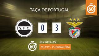 Taça de Portugal (3ª Eliminatória): Resumo Flash Sertanense 0-3 SL Benfica