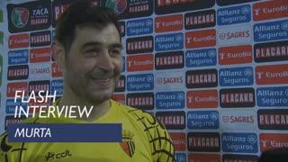 Taça de Portugal (3ª Eliminatória): Flash interview Murta