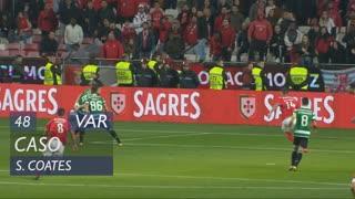 Sporting CP, Caso, S. Coates aos 48'