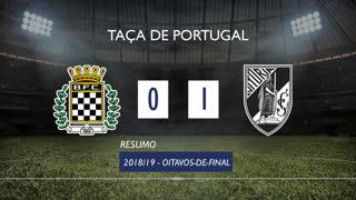 Taça de Portugal (Oitavos de Final): Resumo Boavista FC 0-1 Vitória SC