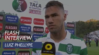 Taça de Portugal (Final): Flash Interview Luiz Phellype