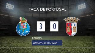 Taça de Portugal (Meias-Finais): Resumo FC Porto 3-0 SC Braga