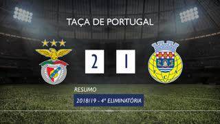 Taça de Portugal (4ª Eliminatória): Resumo SL Benfica 2-1 FC Arouca