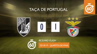 Taça de Portugal (Quartos de Final): Resumo Flash Vitória SC 0-1 SL Benfica