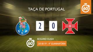 Taça de Portugal (4ª Eliminatória): Resumo Flash FC Porto 2-0 Belenenses