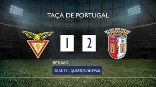 Taça de Portugal (Quartos de Final): Resumo CD Aves 1-2 SC Braga