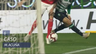 Sporting CP, Caso, M. Acuña aos 6'