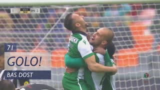 GOLO! Sporting CP, Bas Dost aos 71', Lusitano FCV 1-3 Sporting CP