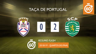 Taça de Portugal (Quartos de Final): Resumo Flash CD Feirense 0-2 Sporting CP