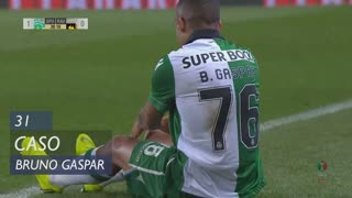 Sporting CP, Caso, Bruno Gaspar aos 31'