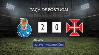 Taça de Portugal (4ª Eliminatória): Resumo FC Porto 2-0 Belenenses