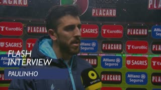 Taça de Portugal (Meias-Finais): Flash Interview Paulinho