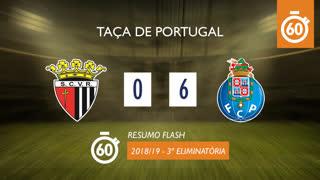 Taça de Portugal (3ª Eliminatória): Resumo Flash Vila Real 0-6 FC Porto