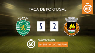 Taça de Portugal (Oitavos de Final): Resumo Flash Sporting CP 5-2 Rio Ave FC