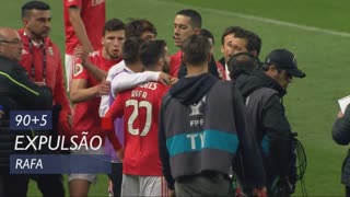 SL Benfica, Expulsão, Rafa aos 90'+5'