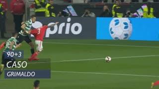 SL Benfica, Caso, Grimaldo aos 90'+3'
