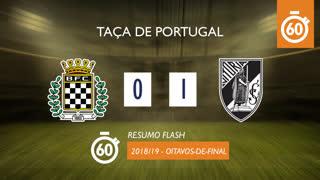 Taça de Portugal (Oitavos de Final): Resumo Flash Boavista FC 0-1 Vitória SC