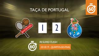 Taça de Portugal (Quartos de Final): Resumo Flash Leixões SC 1-2 FC Porto