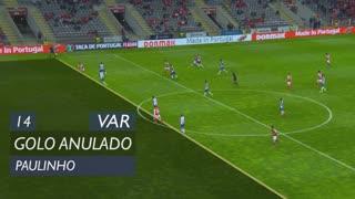 SC Braga, Golo Anulado, Paulinho aos 14'
