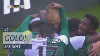 GOLO! Sporting CP, Bas Dost aos 42', Lusitano FCV 0-1 Sporting CP