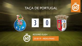 Taça de Portugal (Meias-Finais): Resumo Flash FC Porto 3-0 SC Braga