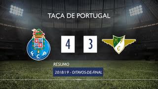 Taça de Portugal (Oitavos de Final): Resumo FC Porto 4-3 Moreirense FC